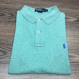 Polo Ralph Lauren Teal Green Polo Shirt L
